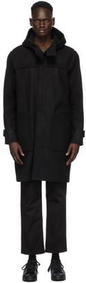 Nudie Jeans Black Danne Duffle Coat