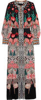 Temperley London Blaze Printed Silk-satin Gown - White