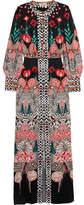Temperley London Blaze Printed Silk-satin Gown