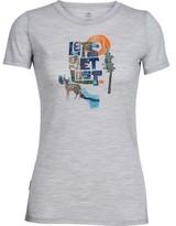 Icebreaker Women's Tech Lite Short Sleeve Crewe Let's Get Lost Tee