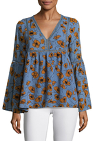 Lucca Couture Kate Floral Print Blouse