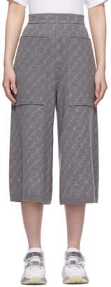 Stella McCartney Grey Cropped Monogramme Lounge Pants
