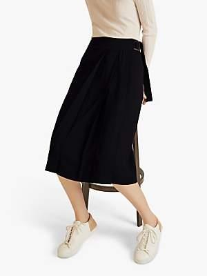 Jigsaw Modern Kilt Skirt, Black