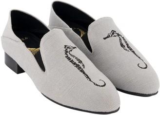 "Hexa Shoes Speedey 1"" Canvas Vegan Loafer - Grey Color"