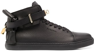Buscemi Pebbled-Effect Leather Sneakers