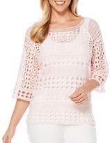 Rafaella Crochet Knit Pullover