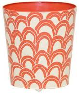 Worlds Away Gaston Blood Orange Wastebasket