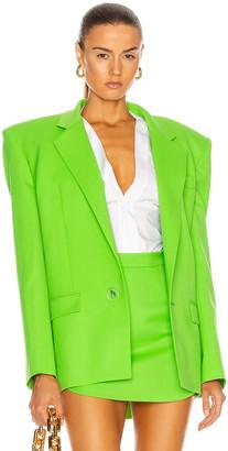 ATTICO Bold Shoulder Blazer in Green | FWRD