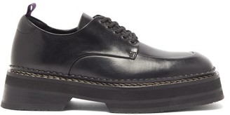 Eytys Phoenix Platform-sole Leather Derby Shoes - Black