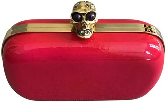 Alexander McQueen Skull Pink Patent leather Clutch bags