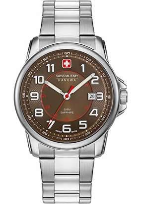 Swiss Military Hanowa Unisex Adult Analogue Quartz Watch with Stainless Steel Strap 06-5330.04.005