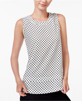 Maison Jules Tiered Polka-Dot Top, Only at Macy's