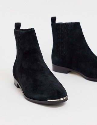 Ted Baker Iveca leather flat ankle boots