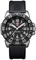 Luminox Navy SEAL Steel Colormark Men's Quartz watch with Black dial featuring LLT light Technology 44 millimeters Stainless Steel case and Black PU Strap XS.3151.NV