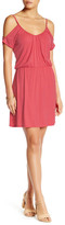 Loveappella Cold Shoulder V-Neck Dress (Petite)