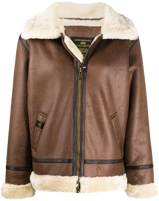 Alpha Industries Faux Shearling Aviator Jacket