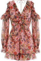 Zimmermann Lovelorn Frill Playsuit