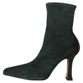 Celine Madame Turquoise Suede Ankle boots