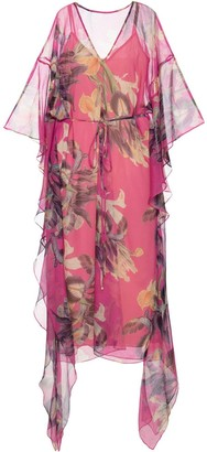 PatBO Grace sheer kaftan
