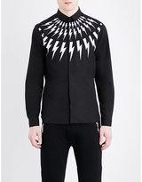 Neil Barrett Thunderbolt Slim-fit Pure-cotton Shirt