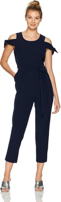 Maggy London Women's Cold Shoulder Jumpsuit
