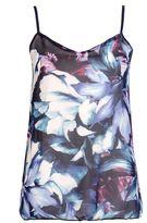 Quiz Multicoloured Chiffon Tropical Print Cami Top