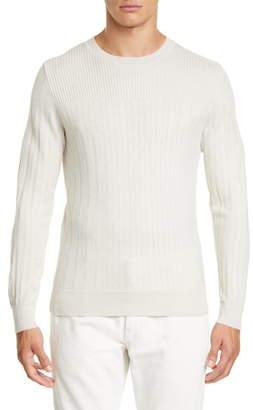 Ermenegildo Zegna Wool & Silk Crewneck Sweater