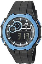 Skechers Men's Quartz Plastic Casual Watch, Color:Black (Model: SR1091)