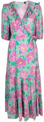 Rixo Colette floral wrap dress