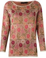 Cecilia Prado floral pattern knitted blouse
