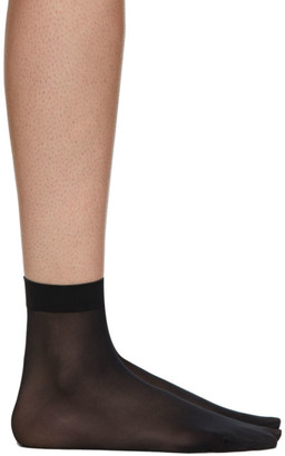 Wolford Black Individual 10 Ankle-High Socks