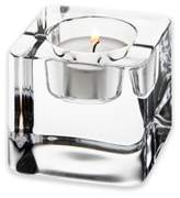 Orrefors Nordic Light Ice Cube Votive Candle Holder
