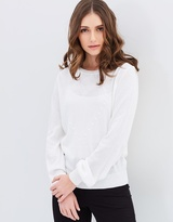 Miss Selfridge Pointelle Heart Front Jumper