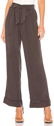 Bella Dahl Trimmed Belted Wide Leg Pant