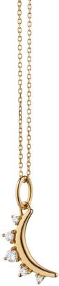 Monica Rich Kosann Mini Moon and Diamond Necklace