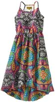 Nicole Miller Girls 7-16 Printed Faux Silk Dress