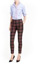 J.Crew Martie Stewart Plaid Stretch Wool Pants