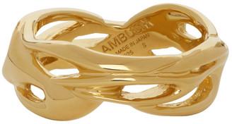 Ambush Gold Flame Ring