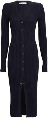 Dion Lee Rib Knit Midi Cardigan Dress