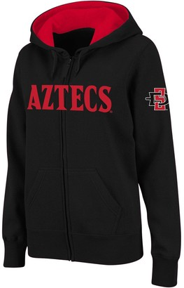 Unbranded Women's Stadium Athletic Black San Diego State Aztecs Arched Name Full-Zip Hoodie
