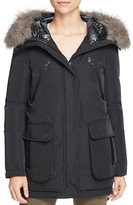 Derek Lam 10 Crosby Fur Trim Mixed Media Down Parka