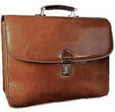 L.a.p.a. Classic Sand Leather Briefcase