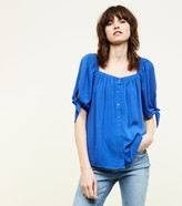 New Look Square Neck Button Front Blouse