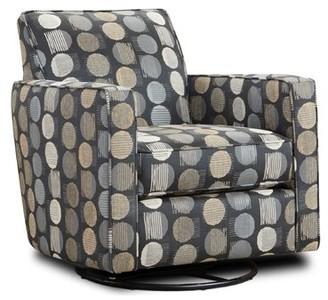Latitude Run Niemi Swivel Armchair Fabric: Green Cotton