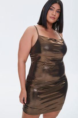 Forever 21 Plus Size Metallic Cowl Neck Dress