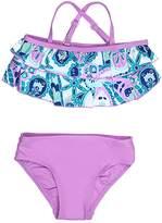 Floatimini Floral Paisley Print Tiered Bikini Set