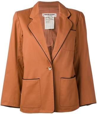 Saint Laurent Pre-Owned contrast trim blazer jacket