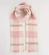 One Size RRP £45. Hobbs Soft Check Charcoal Multi Scarf