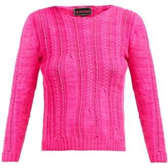 La Fetiche - Ivy Cable Knit Wool Sweater - Womens - Pink