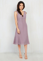 Ties to the Occasion Midi Dress in Lavender in XS